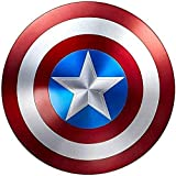 Marvel Legends Series Avengers Capitán América Escudo Aleación de aluminio de metal completo 1: 1 Edición del 75 aniversario,retro Accesorios ,Versión clá Metal,60CM/23.6INCH