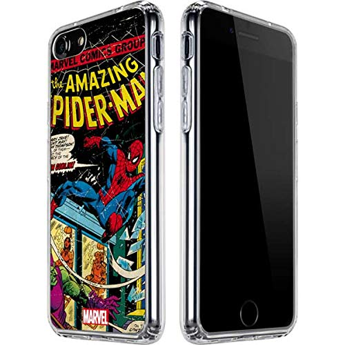 Skinit Clear Phone Case Compatible with iPhone SE - Officially Licensed Marvel Marvel Comics Spiderman Design