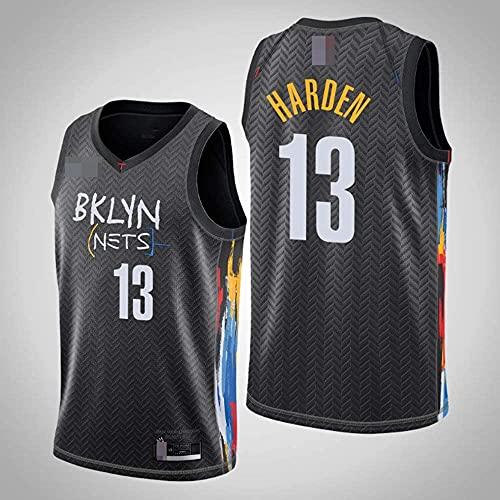 XUECHEN Ropa Jerseys de Hombre, NBA Brooklyn Nets # 13 James Harden, Uniformes de Baloncesto Camisetas de Deporte sin Mangas clásicas y Camisetas cómodas, Negro, S (165~170 cm)