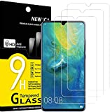 NEW'C 3 Stück, Schutzfolie Panzerglas für Huawei Mate 20x, Frei von Kratzern, 9H Festigkeit, HD Bildschirmschutzfolie, 0.33mm Ultra-klar, Ultrawiderstandsfähig