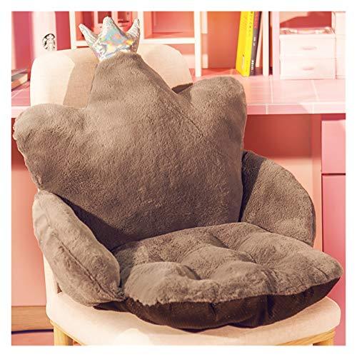 LLRZ Cojín para silla de felpa, acolchado grueso para asiento de casa, oficina, silla de coche, silla de comedor, cojín de asiento (color: marrón 1)