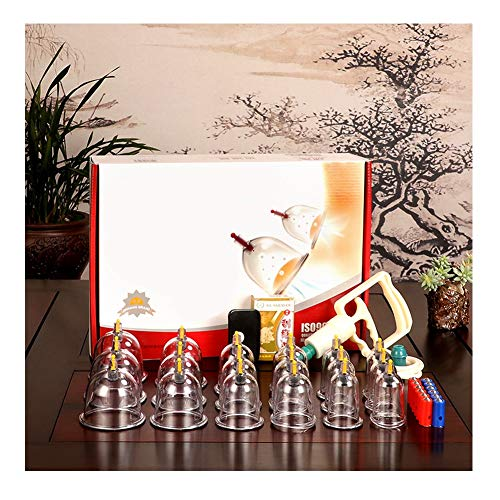JKANGH 18 Cups Cupping Set Plastic, Vacuum Suction Chinese Acupoint Therapy, Home Medical, Best for Reducing Muscle Joint Pain, Shoulder Back Knee Pain