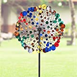ANYURAN Kinetic Wind Spinners Outdoor Metal Yard Spinner, Metal Windmill Dual Direction Decorative Lawn Ornament Wind Mills Gardening Decorations