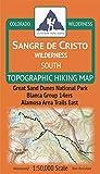 Outdoor Trail Maps Sangre de Cristo Wilderness South - Colorado Topographic Hiking Map (2019)