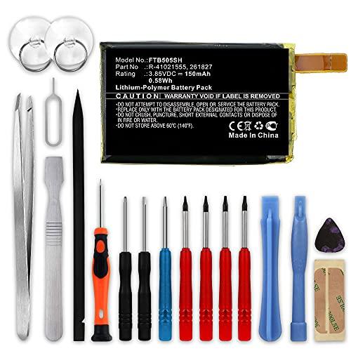 CELLONIC Batería de Repuesto 261827, R-41021555 Compatible con smartwatch Fitbit Versa (FB504, FB505), 150mAh + Juego de Destornilladores 261827, R-41021555 Accu Battery Pack