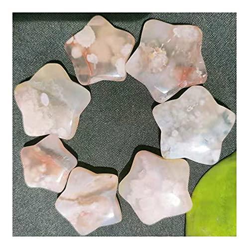 KUYIN 3 stücke Natürliche Kirschblütenkristall, Glasvasen, Aquarien, Dekorationen für Häuser, Zimmer, Gärten, etc Ornamente (Size : 4pcs)