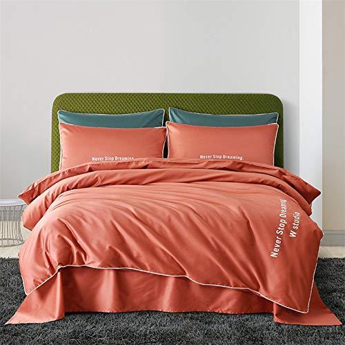 Yaonuli beddengoedset, 4-delig, katoen, Dream Flower AT042 bed met 2,0 m lengte (220 x 240)