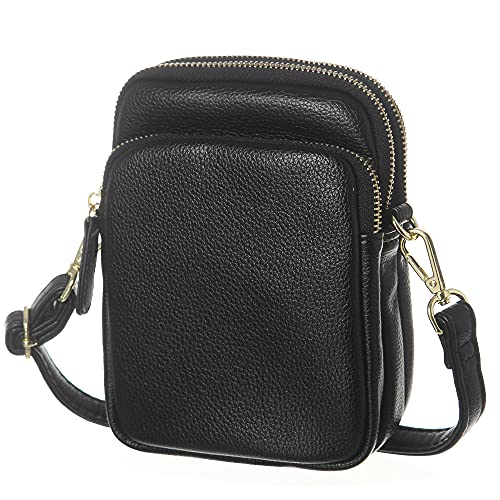 MINICAT Small Crossbody Touch Screen Cell Phone Purse Wallet Bags for Women(Touch Screen-Black)