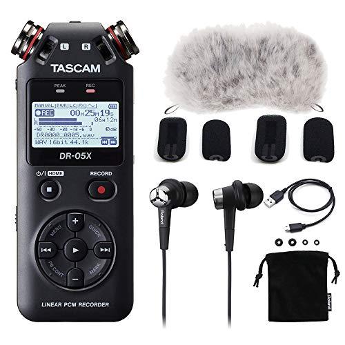 TASCAM DR-05X バイノーラル収録セット Roland CS-10EM付き (USBマイクにもなるDR-Xシリーズ)