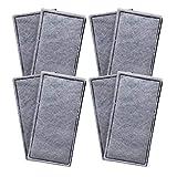 Finest-Filters 8 almohadillas de filtro de espuma de carbono compatibles con Fluval U2 gama de filtros internos