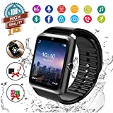 Smart Watch,Android Smartwatch Touch Screen Bluetooth Smart Watch for Android Phones Wrist Phone Watch with SIM Card Slot & Camera,Waterproof Sports Fitness Tracker Watch for Men Women Kids