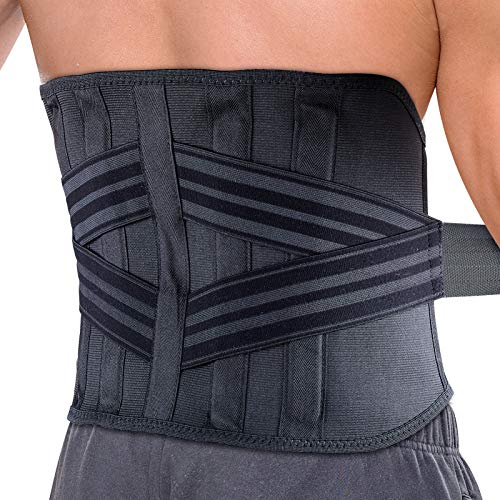Lumbar Support Belt  Back Bace  Waist Back Support Belt Adjustable Waist Straps Immediate Relief for Sciatica Spinal Stenosis Scoliosis or Herniated Disc Keeps Your Spine Straight and Safe XLarge
