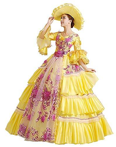 Rococo Robe de bal baroque Marie Antoinette 18ème siècle Renaissance historique victorienne Robe médiévale - - Small:hauteur63-65poitrine34-35taille26-27