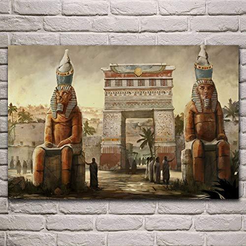 Doyjab Puzzle para Adultos de 1000 Piezas Fantasía de Arquitectura de la Ciudad del Antiguo Egipto Rompecabezas de Madera, Rompecabezas Casuales para Adultos y Adolescentes Muy desafiantes 50x75cm