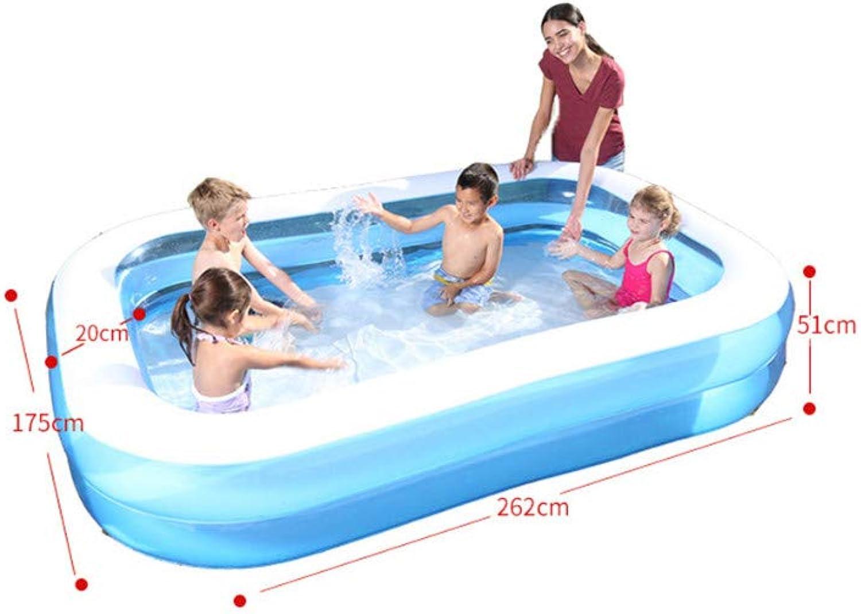 100% autentico RFVBNM RFVBNM RFVBNM Piscina inflable para Niños Piscina Gruesa Barril de baño para el hogar del bebé Piscina de Bolas Grandes del océano, Azul, 262  175  51 cm  A la venta con descuento del 70%.