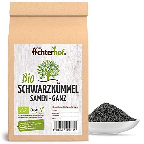 Schwarzkümmelsamen Bio ganz (500g) original nigella sativa ägyptischer Schwarzkümmel Samen ganz vom-Achterhof
