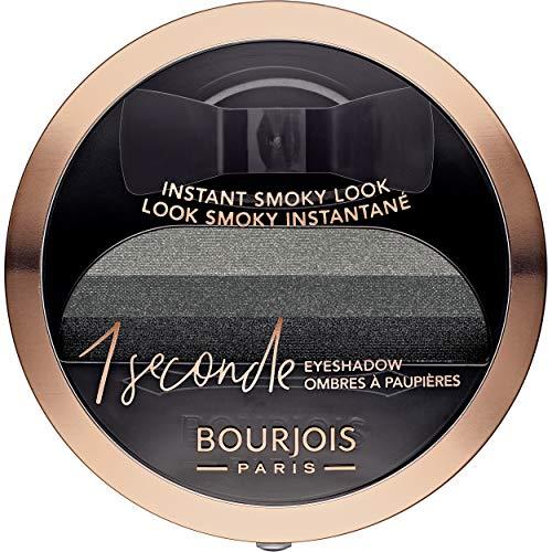 Bourjois - Ombre à Paupières 1 Seconde Eyeshadow - Smoky Facile et Couleur Intense - 01 Black On Track 3gr
