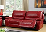 Furniture of America Dunham 2-Recliner Sofa, Red