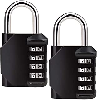 MEGICOT [2 Pack] Combination Lock, 4 Digit Combination Security Padlock for Gym, Sports, School Locker, Filing Cabinets, G...