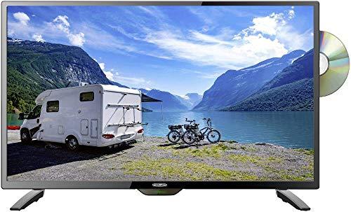 Reflexion LDDW-280 Wide-Screen LED-Fernseher (28 Zoll) für Wohnmobile mit DVB-T2 HD, DVD-Player, Triple-Tuner und 12 / 24 Volt Kfz-Adapter (HD Ready, HDMI, USB, EPG, CI+, DVB-T Antenne), schwarz