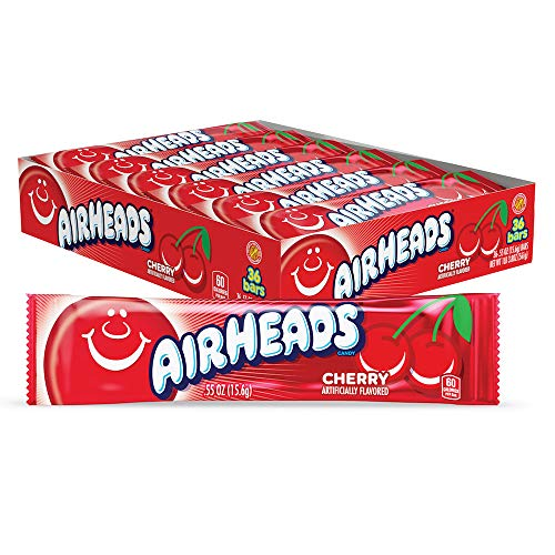 Airheads Cherry Candy - .55 oz. Bar, Pack of 36