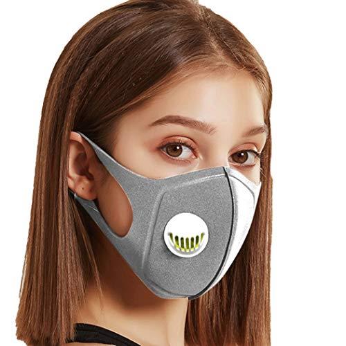 IN'VOLAND Aktivkohlefilter Face Shield mit Atemventil, Gesichtsfilter Mund Staub Wiederverwendbare und waschbare für Laufen, Radfahren, Outdoor-Aktivitäten