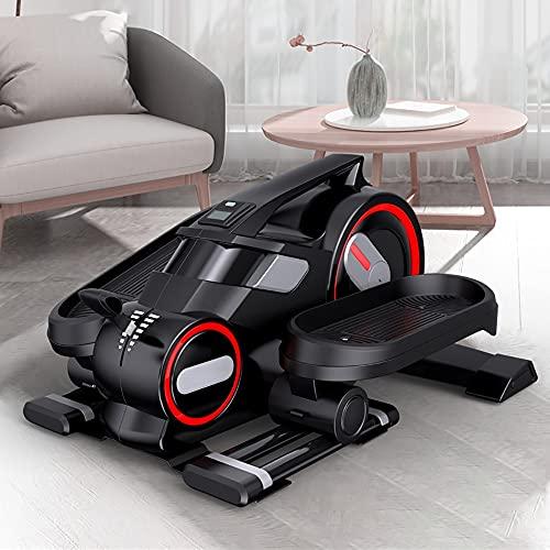 angroups Stepper Cardio Fitness,Escaladora Stepper Mini Estática, Bicicleta Eliptica,Pedaleador Compacto y Silencioso, Resistencia Ajustable para Entrenamiento en Oficina y Casa