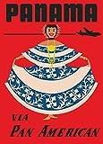 Vintage Travel Panama über Pan Am Airways 250gsm,