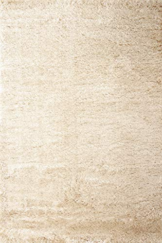 floor factory Hochflor Shaggy Teppich Pearl beige 160x230cm wunderbar weicher Langflorteppich mit Ökotex