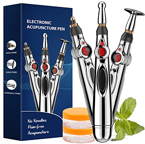 Acupuncture Pen, Electronic Acupuncture Pen for Pain Relief Therapy, Powerful Meridian Energy Pen...