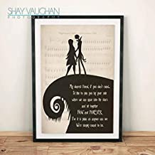 Minitowz The Nightmare Before Christmas Poster Jack and Sally My Dearest Friend Quote Print Jack and Sally Poster Wedding Decor Wall Art (No.254