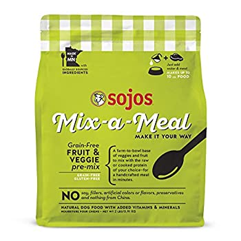 Sojos Mix-A-Meal Fruit & Veggie Pre-Mix Grain-Free Dog Food 2 Pound Bag