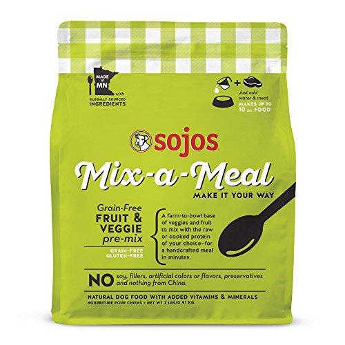 Sojos Mix-A-Meal Fruit & Veggie Pre-Mix Grain-Free Dog Food, 2 Pound Bag