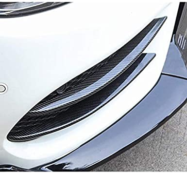 Color Name : Black YANGLY Car Grille Vent Net Cover Front Fog Lamp Grill Grille Decorative Cover Trim Strips Fit For Mercedes Benz C Class W205 2015-2018 Car Styling FFFF Bumper Foglight Grille