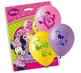 20 Palloncini in Lattice Minnie - Rosa, Lilla e Giallo - Pallone Decorazione addobbo per Feste, Party, Compleanno Bimba