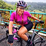 Triathlon da donna Abiti da ciclismo Jersey Tuta Girl Girl Jersey Abito casual a maniche corte a maniche corte JINSHAO (Color : 20-366(1), Size : Small)