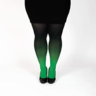 43c93d942 Green plus size semi opaque tights gradient pantyhose Christmas gift for her