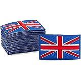 Aufnäher zum Aufbügeln, UK-Flagge, 7,6 x 1,5 x 4,8 cm, 24 Stück