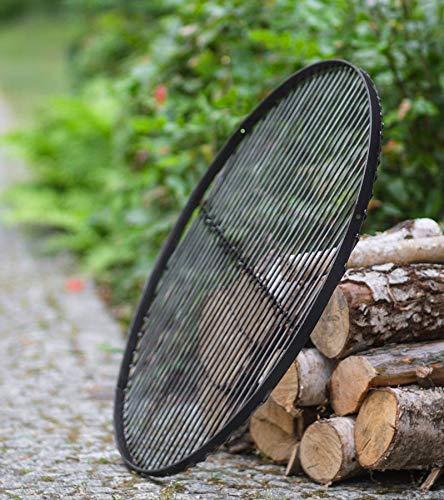 BlackOrange Grille de cuisson XL en acier Ø 80 cm avec 3 trous sur le devant (120 degrés chacun) pour fixer la grille de cuisson comme barbecue pivotant.