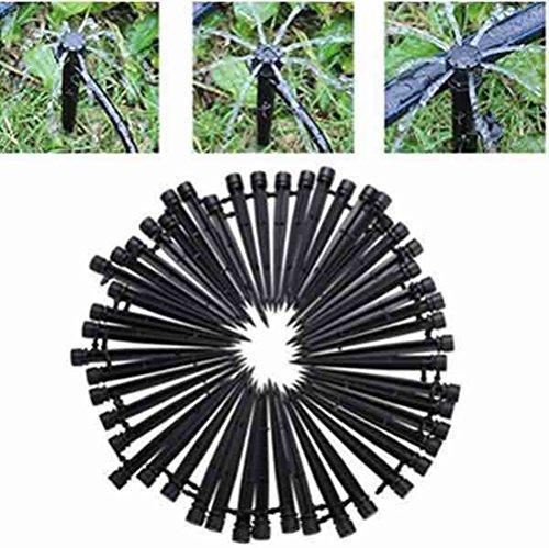 homeyuser 10 verstellbar Flow Micro-Sprüher 360 Grad Garten Pflanzen Wasser Rasen Bewässerung System Köpfe Tropfer Sprinkler 4/7 mm