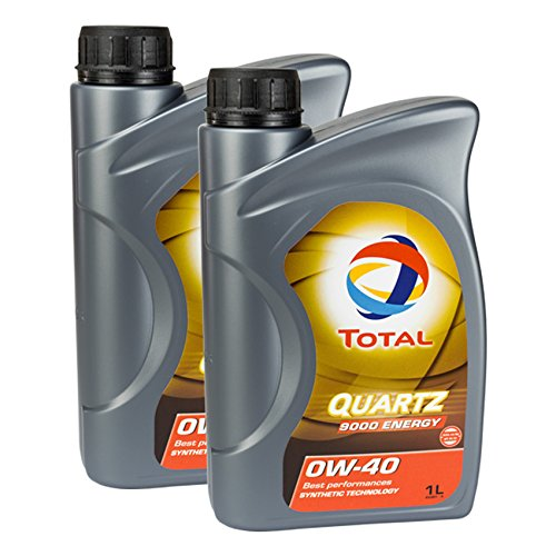 2x MOTORÖL TOTAL QUARTZ 9000 ENERGY 0W-40 1L