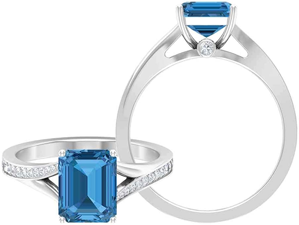 Latest item 2.75 Long Beach Mall CT Created Arctic Blue Sapphire Solitaire Ring with Moissan