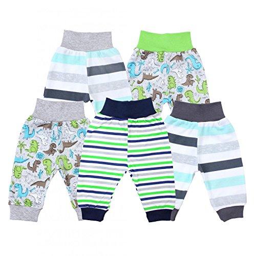 TupTam Unisex Baby Pumphose 5er Pack, Farbe: Junge 3, Größe: 62