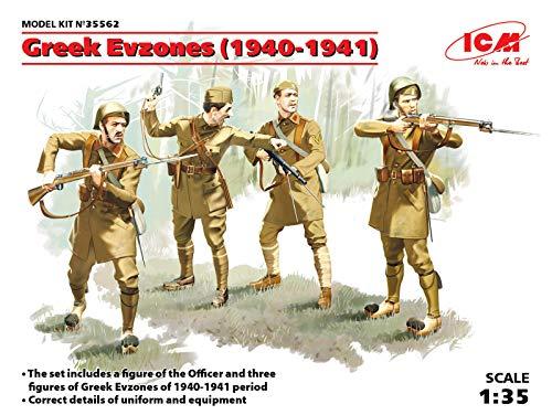 ICM Ci 35562 - 1/35 Soldados de la Segunda Guerra Mundial, Grecia Evzones 4 Figuras