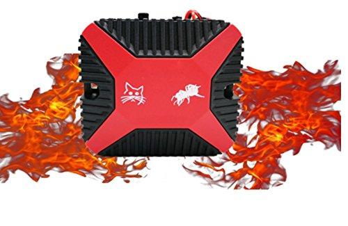 Preisvergleich Produktbild OOFAY Ultraschall-Maus-Repeller Auto-Draht-Schutz Ultraschall-Ultraschall-Elektronische Insektenvernichter Kontrolle von Nagetieren Weg von Autos Garage, Red