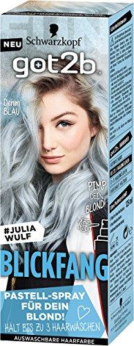 Schwarzkopf Got2b Blickfang Haarfarbe, PS4 Denim Blau, 3er Pack (3 x 125 ml)
