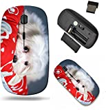 Liili Wireless Mouse Travel 2.4G Wireless Mice with USB Receiver, Click with 1000 DPI for Notebook, pc, Laptop, Computer, mac Book ID: 25467554 White Puppy Maltese Dog