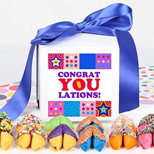 CONGRATULATIONS Gift Box - 1 Dozen Chocolate Covered Fortune Cookies