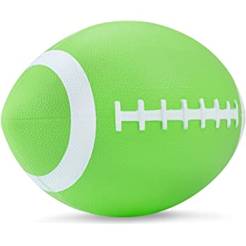 "YAPASPT Football for Toddlers Mini Cute American Footballs Handheld Kids Toy,Bouncy and Soft 7.5""Water Beach Ball Come Deflate(Green)"