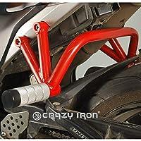 ホンダ CBR600RR 2007-2012 リア スタントケージ ガード (ホワイト)